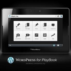 Blackberry Playbook Gets WordPress Publishing App