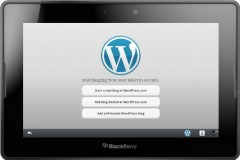 Wordpress for Blackberry PlayBook