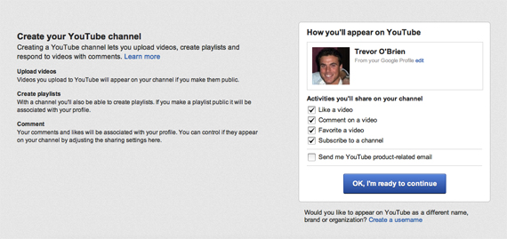 YouTube Channels Can Now Be Created Through Your Google+ Account