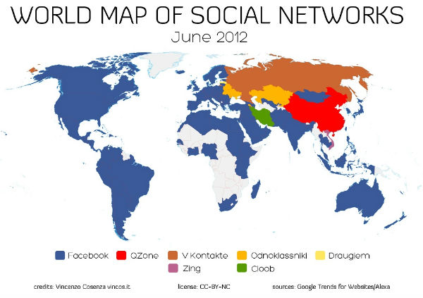 Facebook Continues Strong Dominance In Worldwide Social Media Space