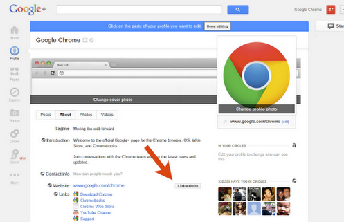 Google Makes Website Linking To Google+ Pages Easier
