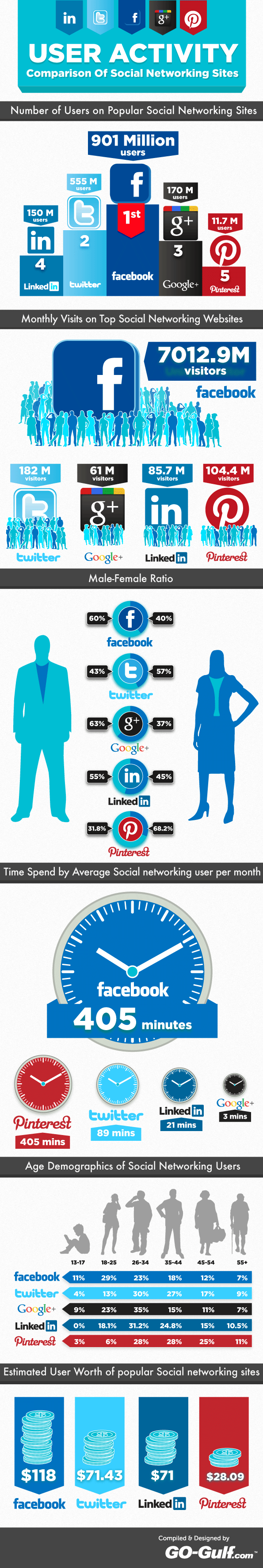 Social Networks Broken Down By Demographic [Infographic]