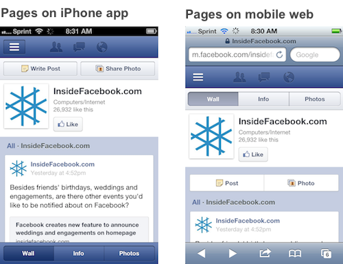 Facebook Begins Rolling Out Timeline For Mobile Pages