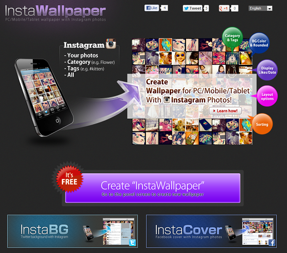 Insta-WP Makes Wallpaper Creation Fun With Instagram Integration