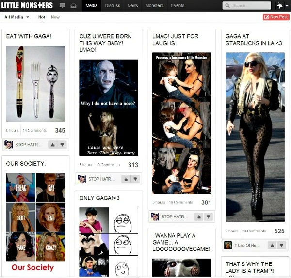 Lady Gaga Launches 'Little Monsters' Social Network