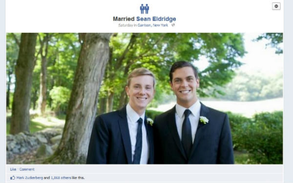 Same Sex Marriage Icons On Facebook