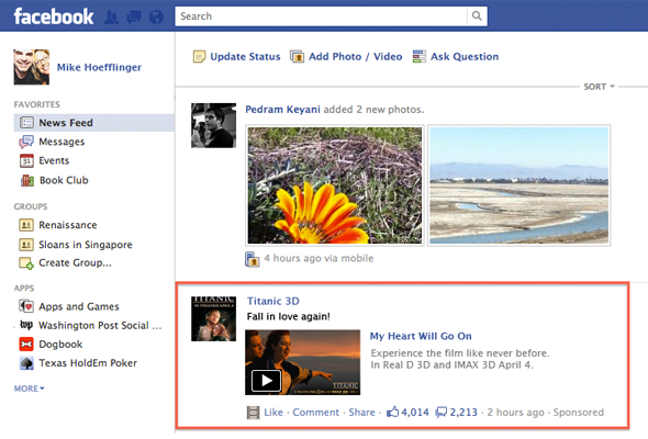 Facebook Begins Testing Brand New Advertising For News Feeds