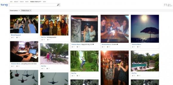 Facebook Photo Search Through Bing