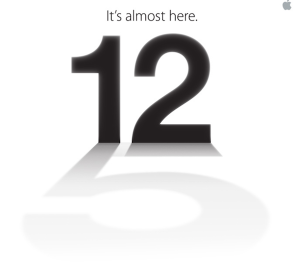 Apple iPhone 5 Confirmation. Company Sends Out Press Invitations With Naming Hint