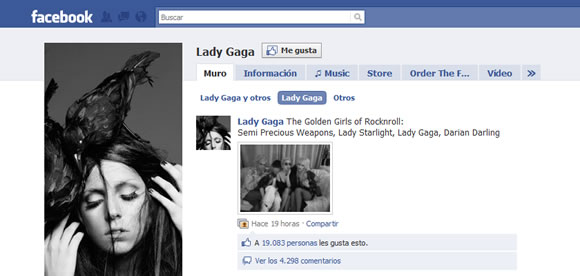 Lady Gaga on Facebook