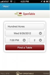 Foursquare Teams With Open Table Launches InApp Reservations For - Open table app for android