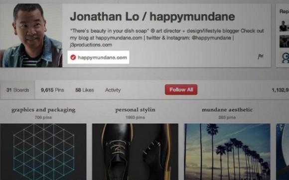Pinterest Adds Website Verification