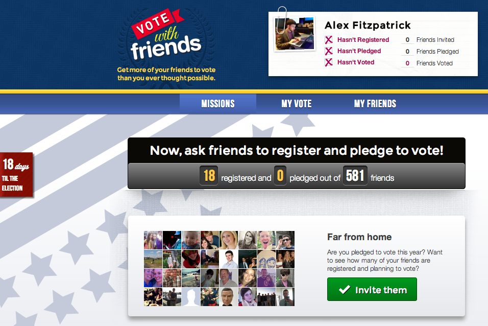 Facebook App 'Vote With Friends' Advocated Voting With A Social Twist