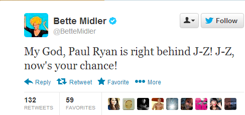 Bette Midler Tweets Presidential Inauguration While Hungover