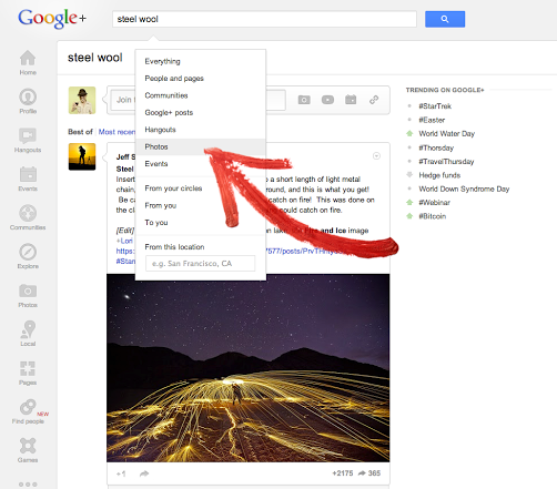 Google+ Photos Now Searchable