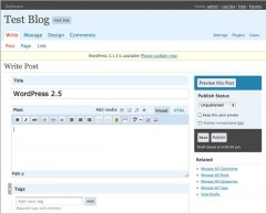 Wordpress 2 5