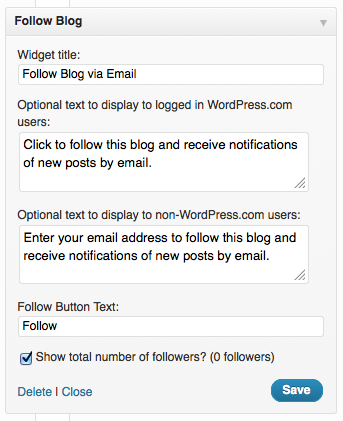 WordPress Widget
