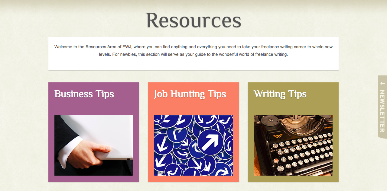 Freelance Writing Jobs Launches Resources Section