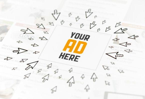Success web advertisement concept
