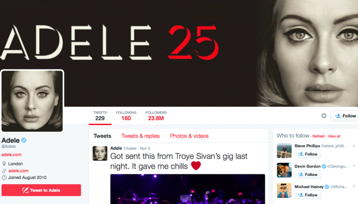 Adele Reveals Why She Doesn't Tweet