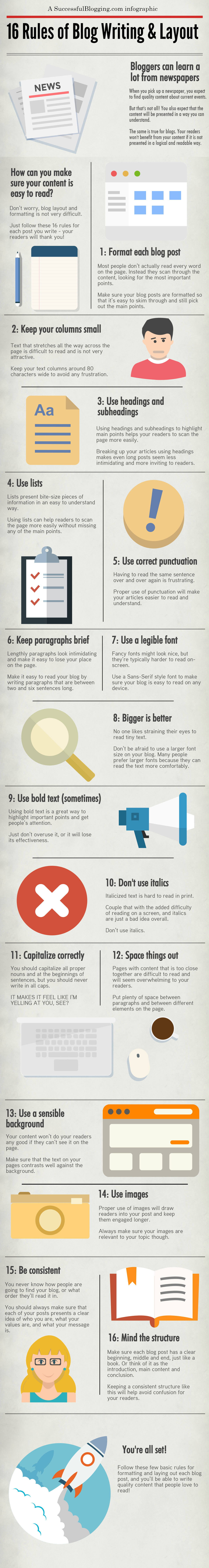 blog writing formatting tips