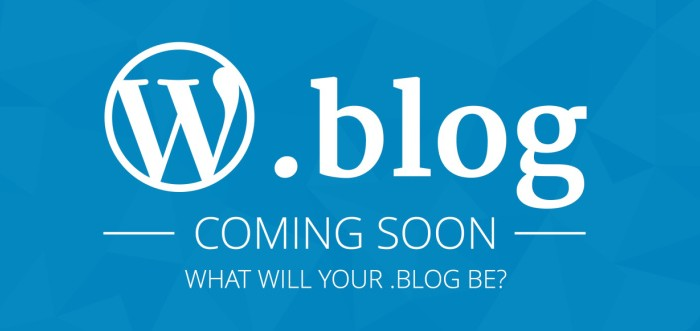 WordPress Acquires .Blog Domain For A Hefty Price