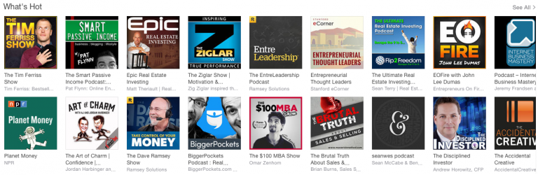 Top Podcasts on iTunes