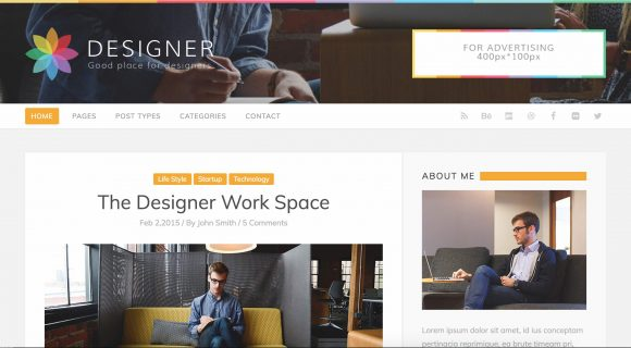 designer blog themes